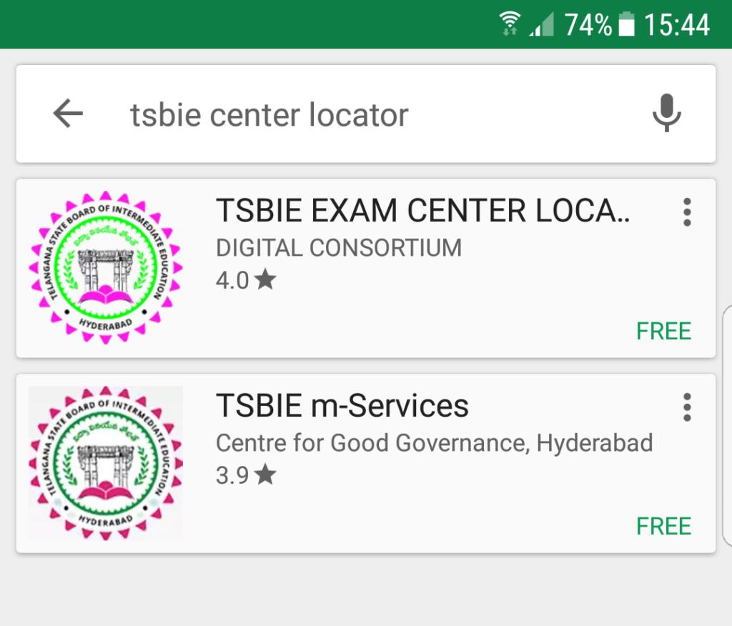 TSBIE Exam Center Locator APP