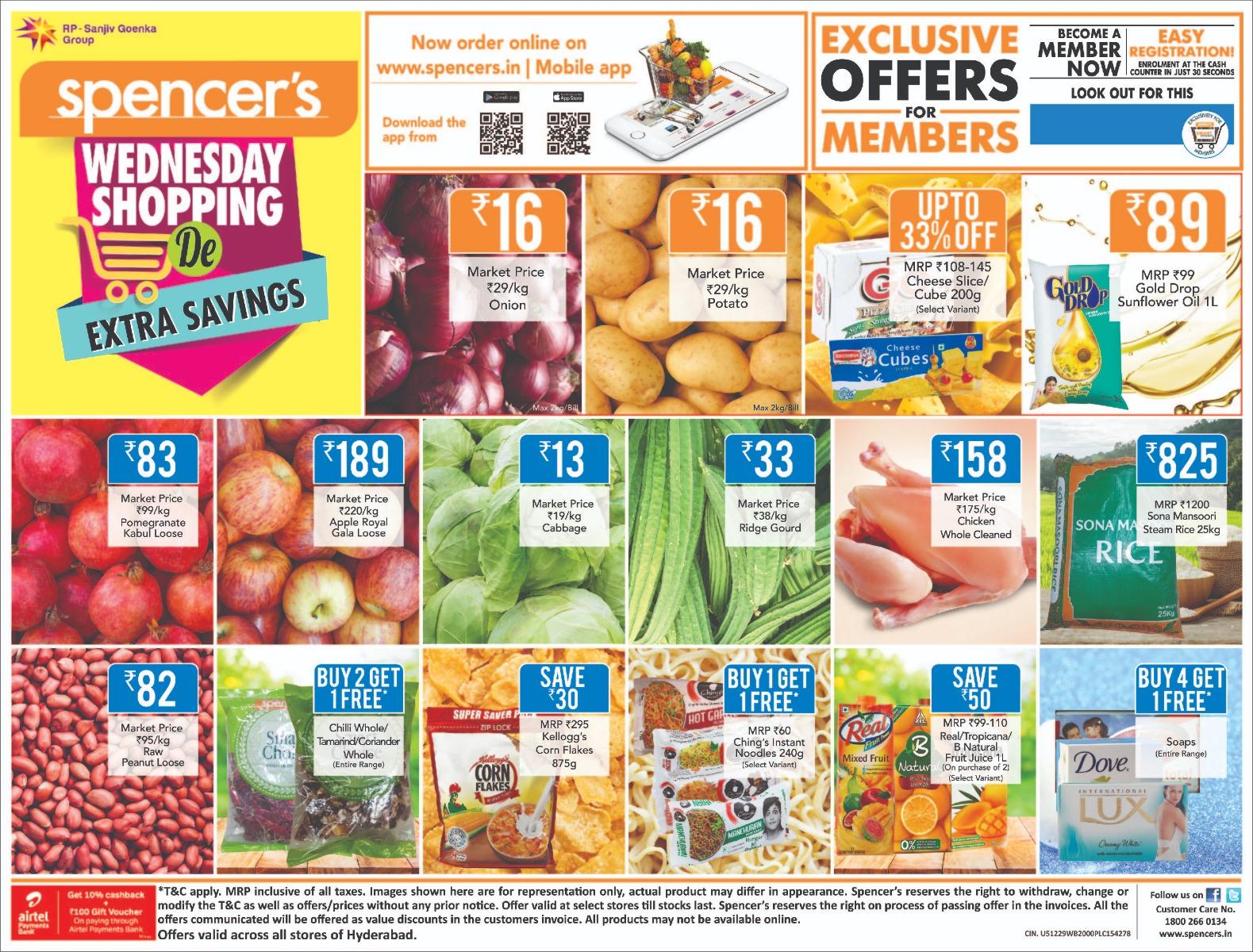 Spencer's Wednesday Shopping Extra Savings